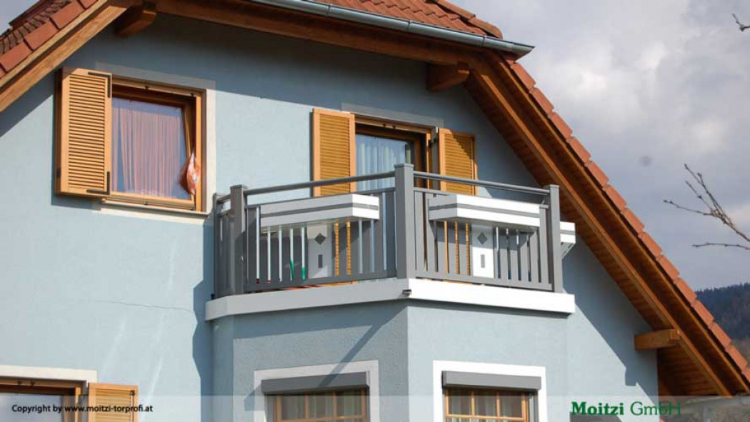 Aluminium Balkone in der Modellgruppe Kompakt in der Modellgruppe Kompakt mit der Nr 429